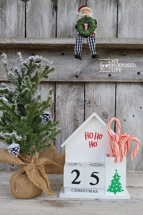 perpetual calendar repurposed countdown to Christmas calendar