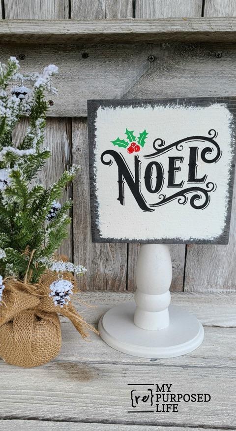 scrap wood Christmas Decor NOEL sign MyRepurposedLife