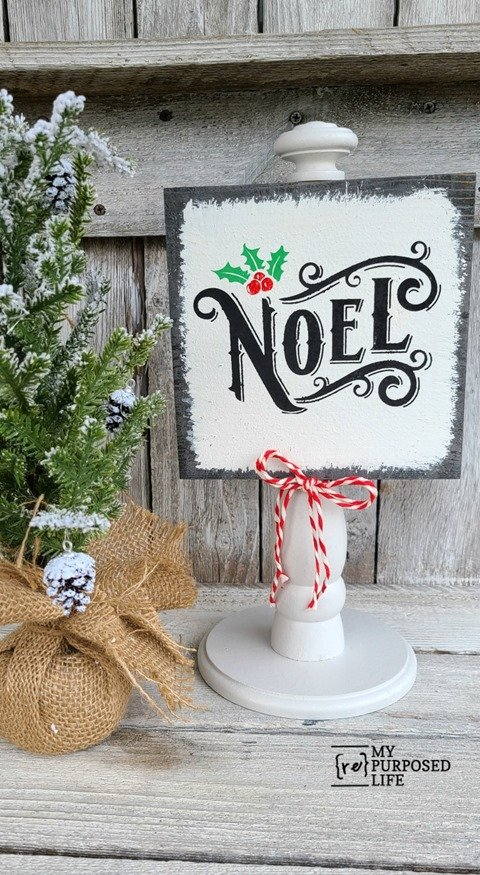 scrap wood Christmas decor Noel MyRepurposedLife