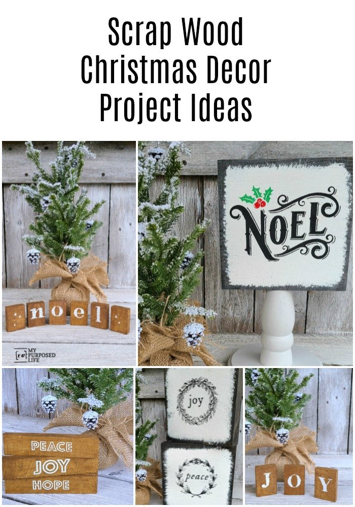 How to make scrap wood Christmas decor projects for your home, or as gifts for friends, neighbors teachers and more. Easy details included. #MyRepurposedLife #repurposed #Christmas #decor #scrapwood #projects #diy via @repurposedlife
