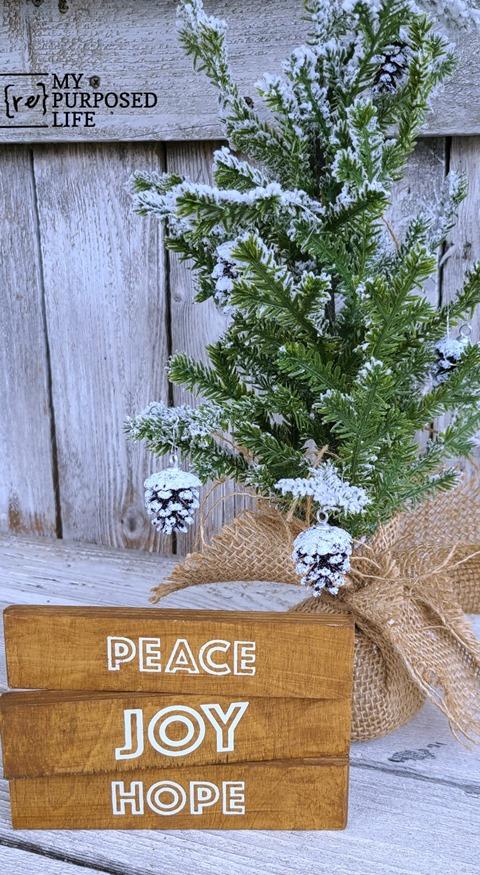 scrap wood christmas decor peace joy hope MyRepurposedLife