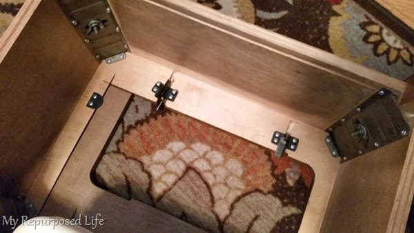 dismantle sewing cabinet top