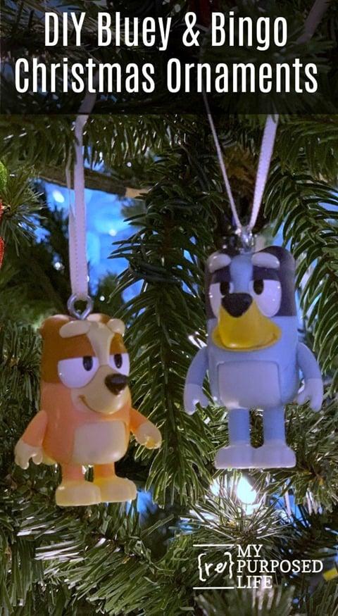 diy bluey and bingo action figures Christmas ornaments MyRepurposedLife