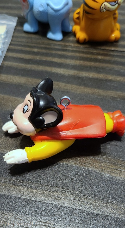 diy mighty mouse action figure ornament