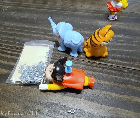 make ornaments out of action figures