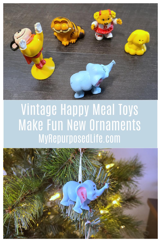 vintage happy meal toys make fun new ornaments MyRepurposedLife