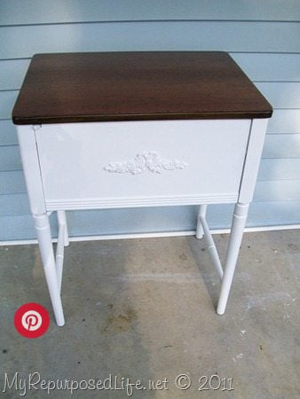 White Sewing Cabinet Makeover