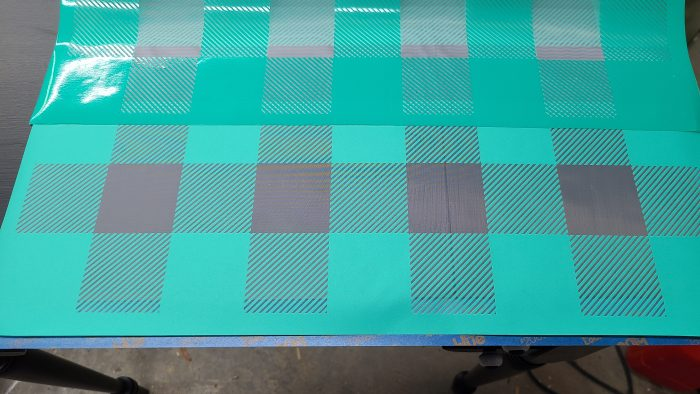 buffalo plaid stencil transfer