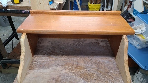 making a secretary desk out of a sewing machine cabinet