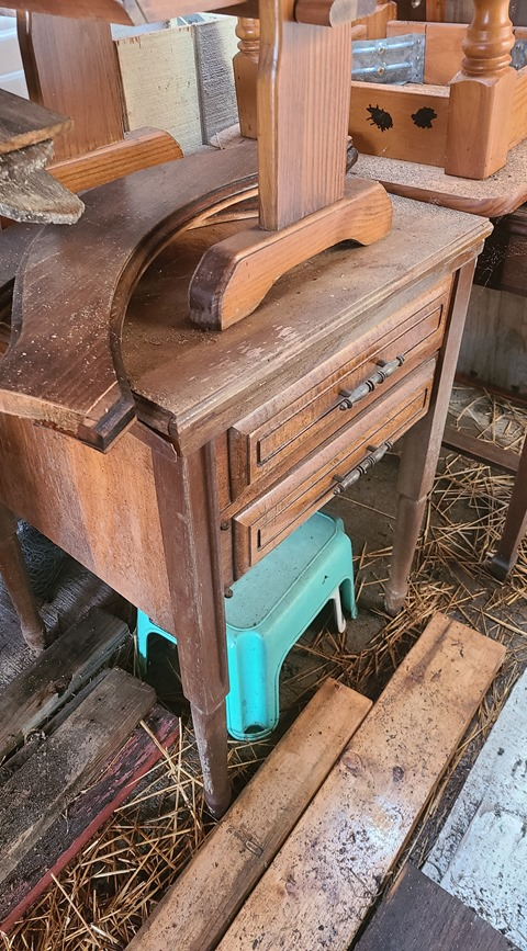 old sewing cabinet