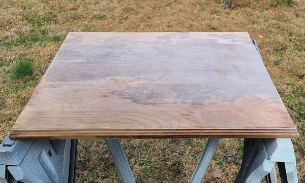 sanded table top