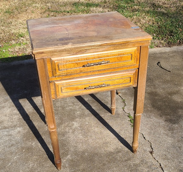 sewing cabinet redo