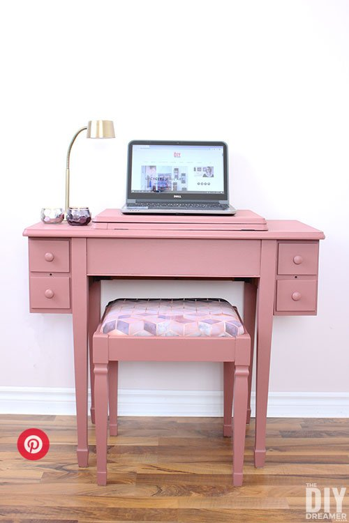 sewing table upcycle desk