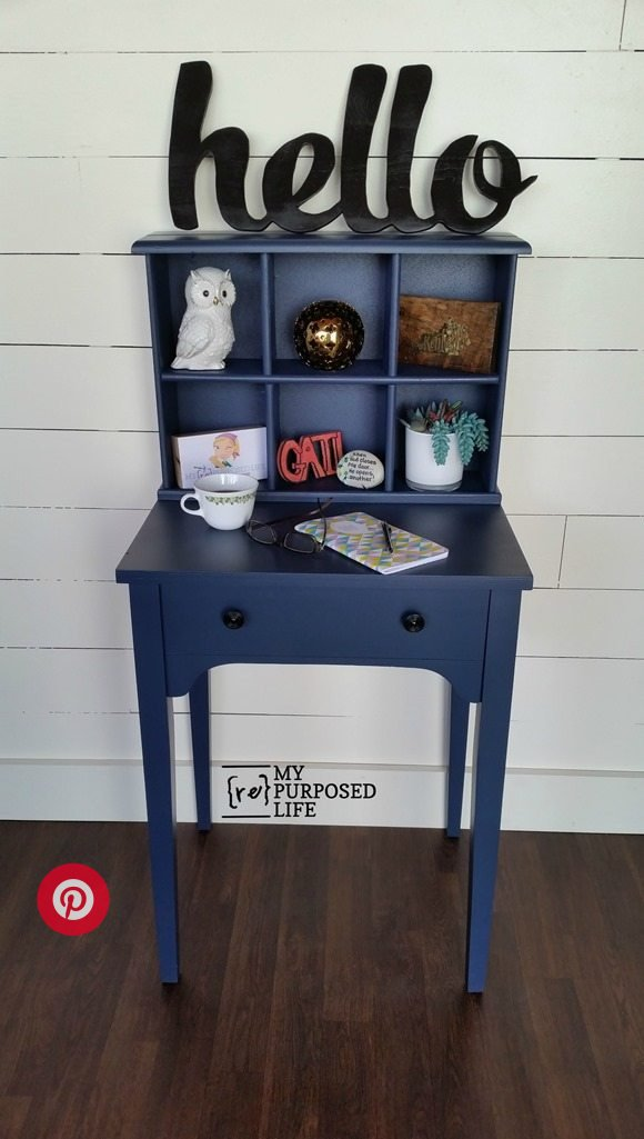navy blue writing desk sewing cabinet ideas