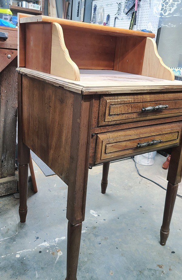 turning a sewing cabinet into a secretary desk