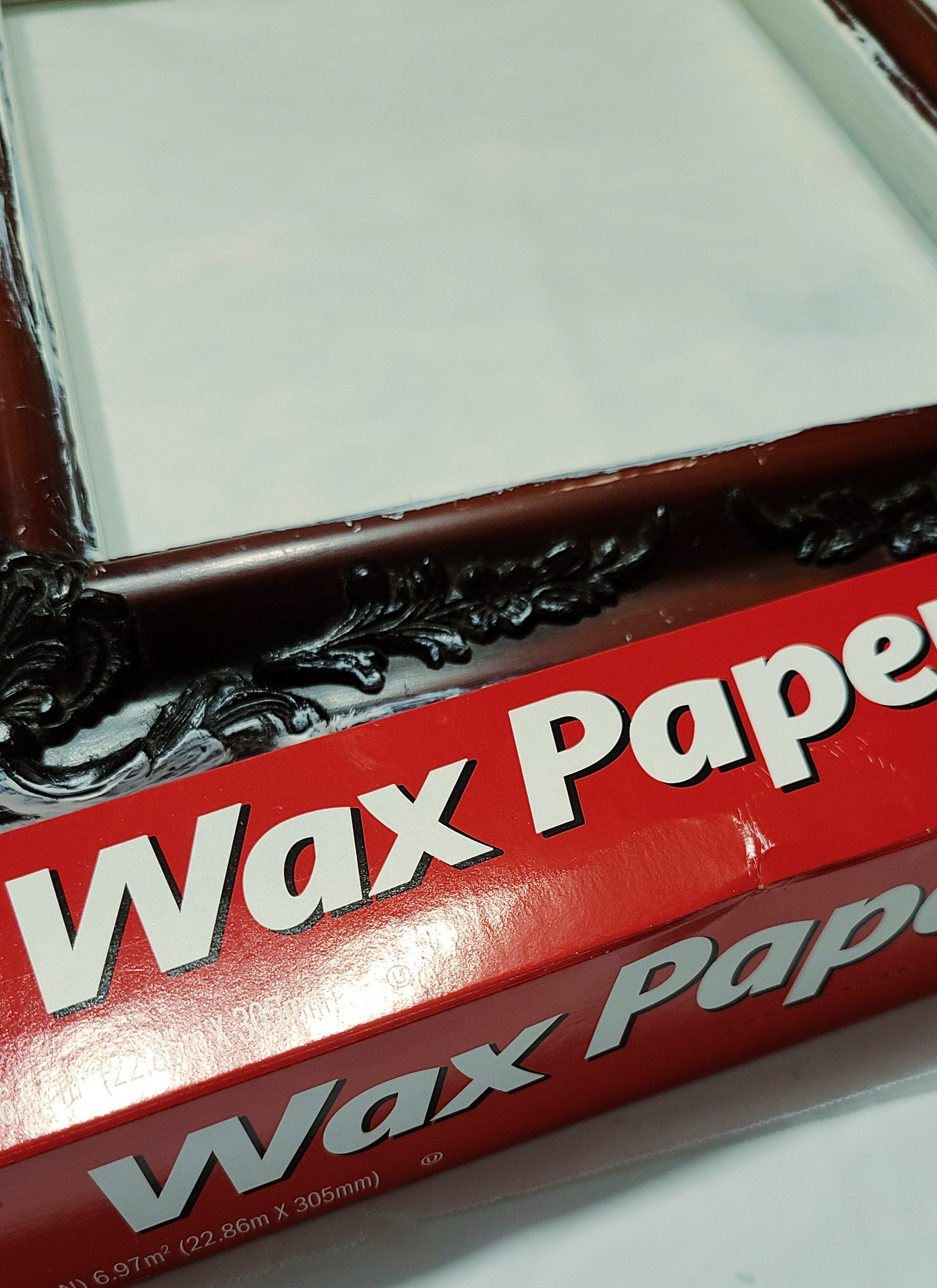 using wax paper while painting small projects