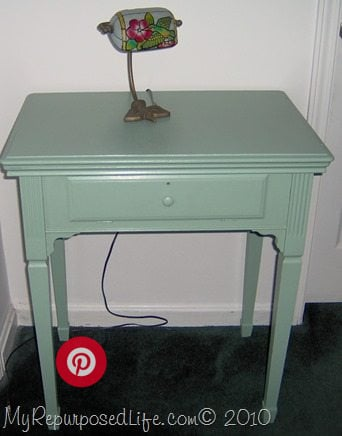 green sewing cabinet ideas