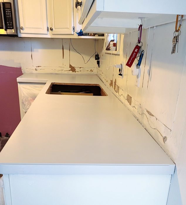 painted countertops after final base coat
