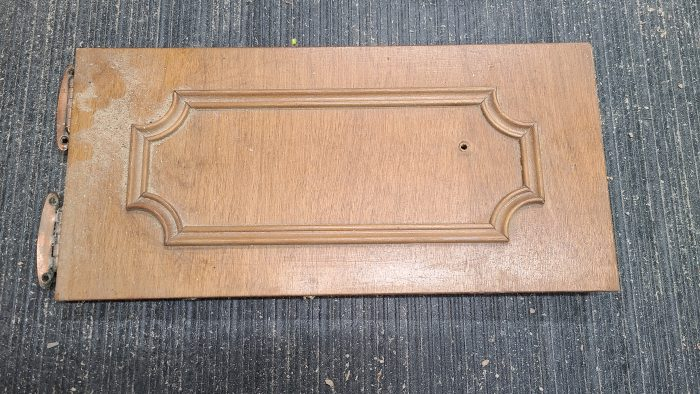 small wooden cabinet door