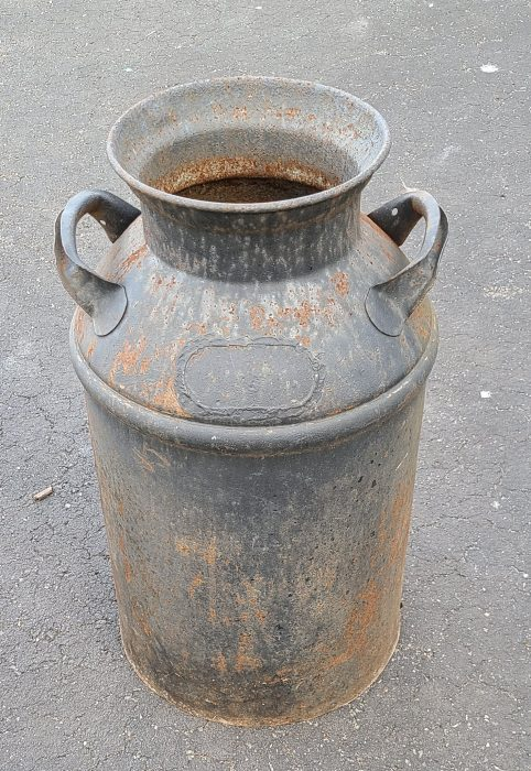 antique milk can