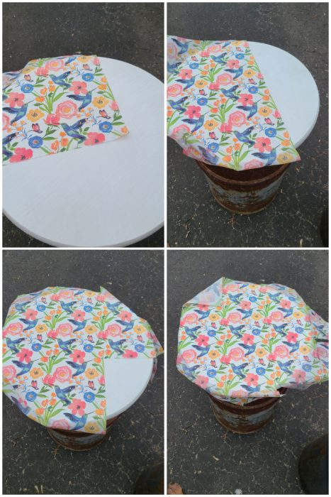 decoupage milk can table top