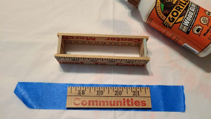 glue yardstick biz card holder bottom