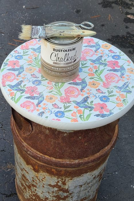 how to age decoupage