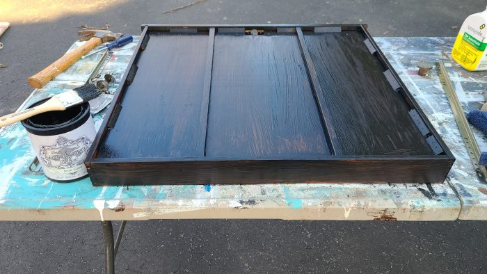paint desk drawer chalkboard black