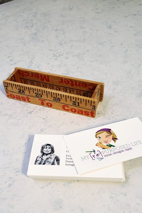 small box made from a yardstick