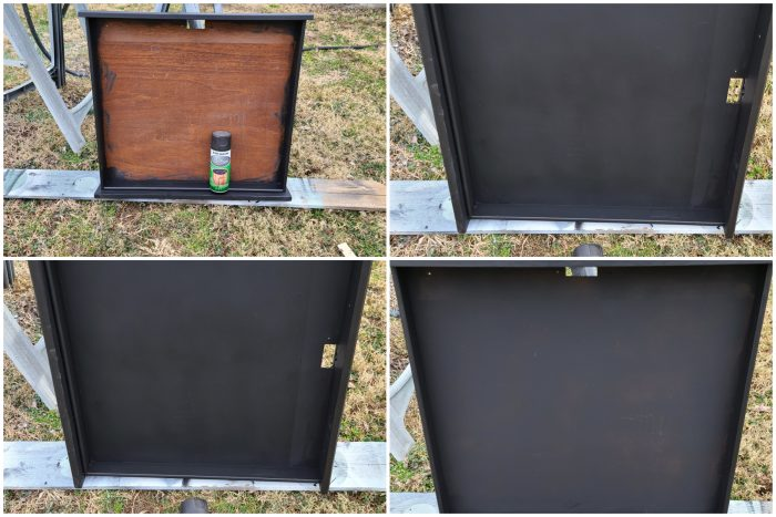 spray paint desk drawer chalkboard