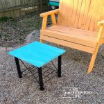 upcycled metal table | outdoor coffee table
