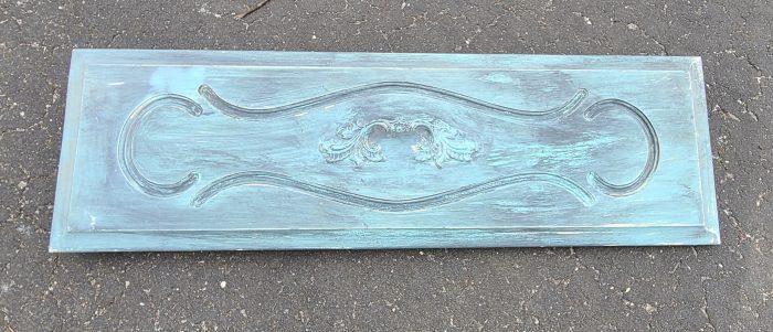 repurposed blue dresser drawer front