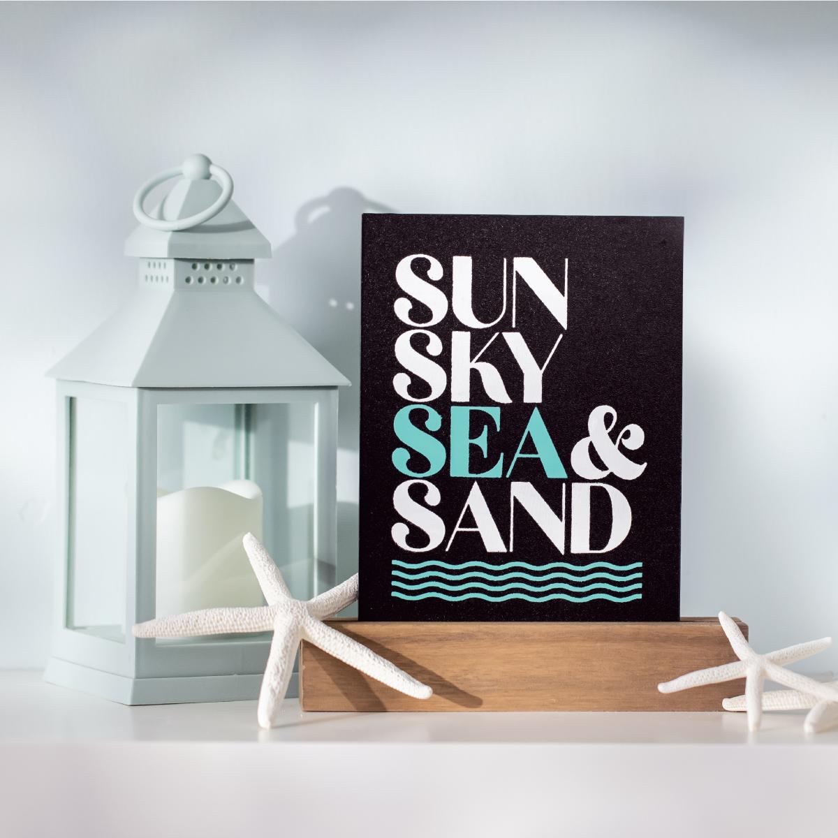 sun sky sea sand