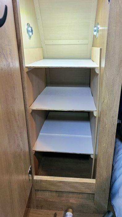 no drill shelves for small closet