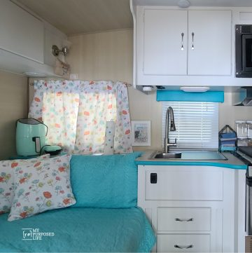 painted camper cabinets